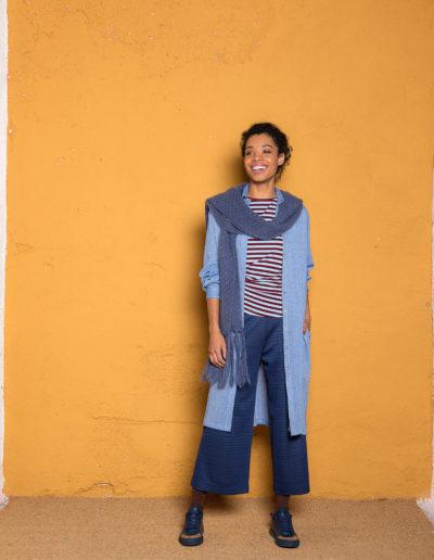 Panta Bojan e kimoncino righe